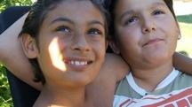 Samson og Bambino med solgltt